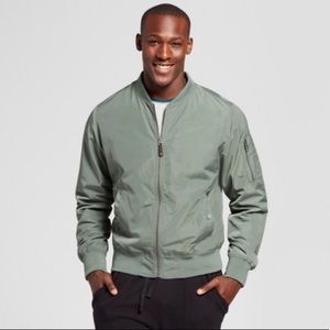 NWT Goodfellow Co Standard Fit Green Bomber Jacket